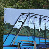 Painting Parallel Route-Iron Bridge  by Sharon  Hunter