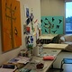 busy studio work space by Belinda Harrow