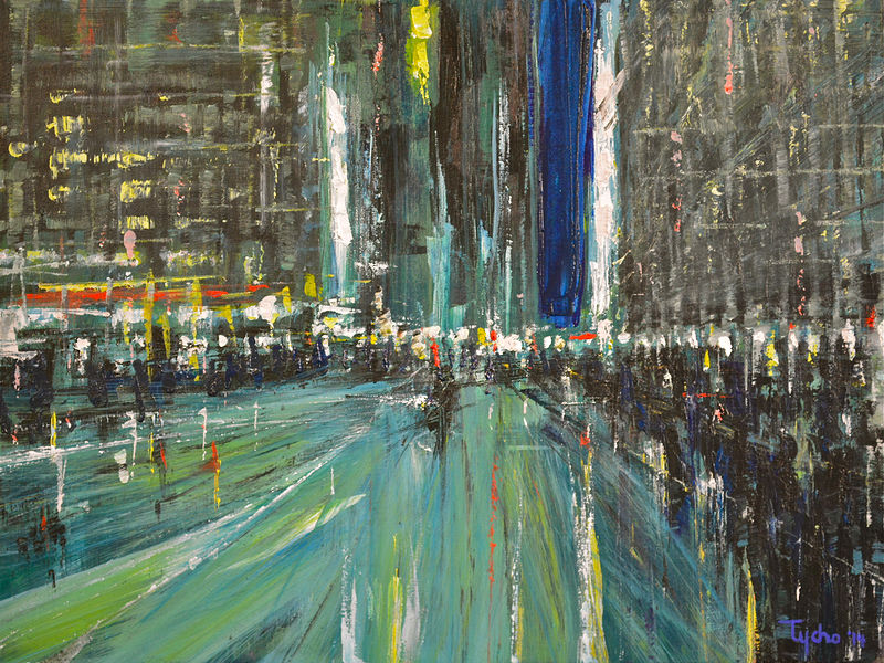 Acrylic painting Urban Rhapsody #7  by David Tycho