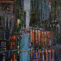 Acrylic painting Urban Rhapsody #10  by David Tycho