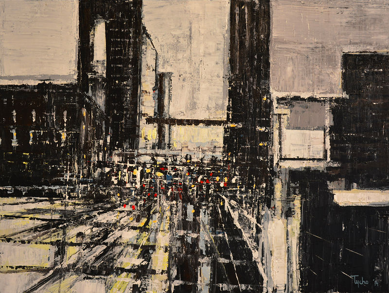 Acrylic painting Urban Rhapsody #12  by David Tycho