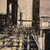 Acrylic painting Urban Rhapsody No. 12  by David Tycho