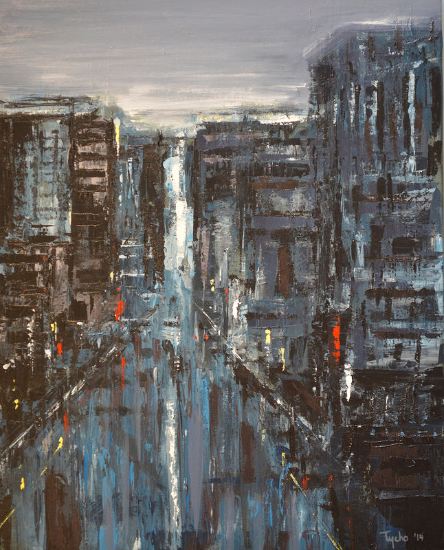 Acrylic painting Urban Rhapsody No. 5  by David Tycho