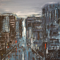 Acrylic painting Urban Rhapsody #5  by David Tycho