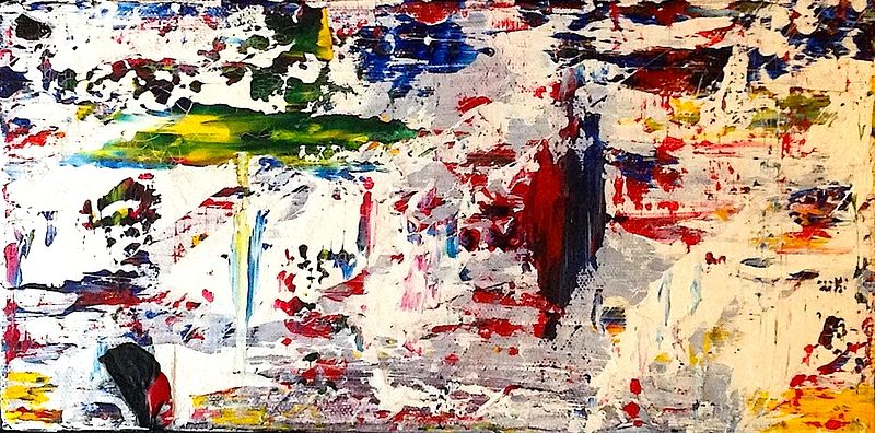 Acrylic painting Untitled #4 by Jeffrey Newman