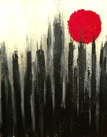 Acrylic painting City Sun by Jeffrey Newman