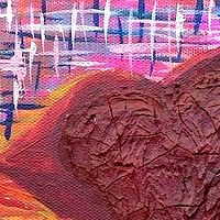 Acrylic painting Cracked Heart by Jeffrey Newman
