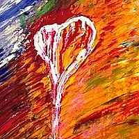 Acrylic painting Heart Colors by Jeffrey Newman