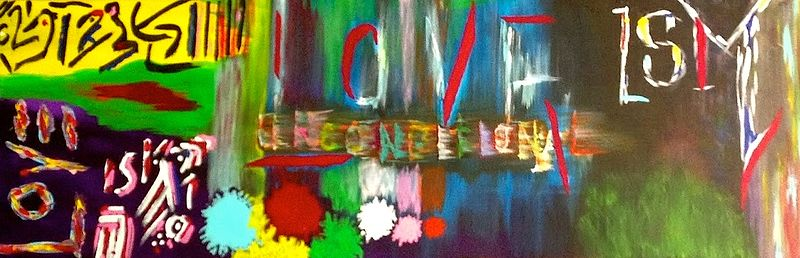 Acrylic painting Unconditional Love by Jeffrey Newman