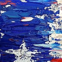 Acrylic painting Flag, Texas by Jeffrey Newman