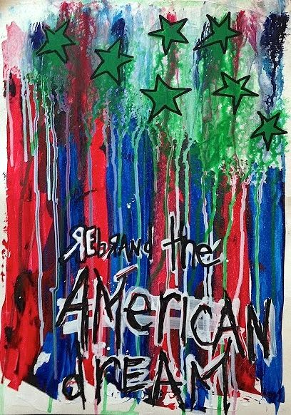 Acrylic painting Rebrand The American Dream by Jeffrey Newman