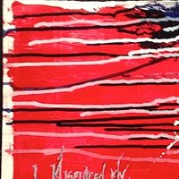 Acrylic painting I Misplaced My American Dream, Red by Jeffrey Newman