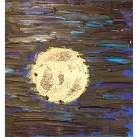 Acrylic painting Super Moon by Jeffrey Newman