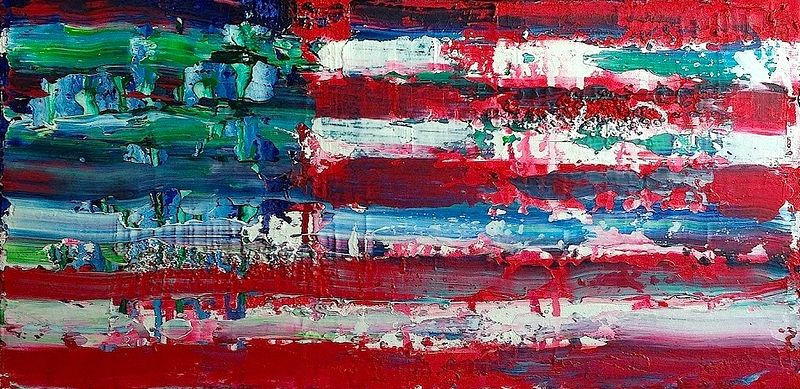 Acrylic painting Untitled, Flag by Jeffrey Newman