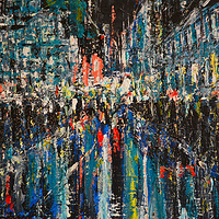Acrylic painting Urban Study No. 1  by David Tycho
