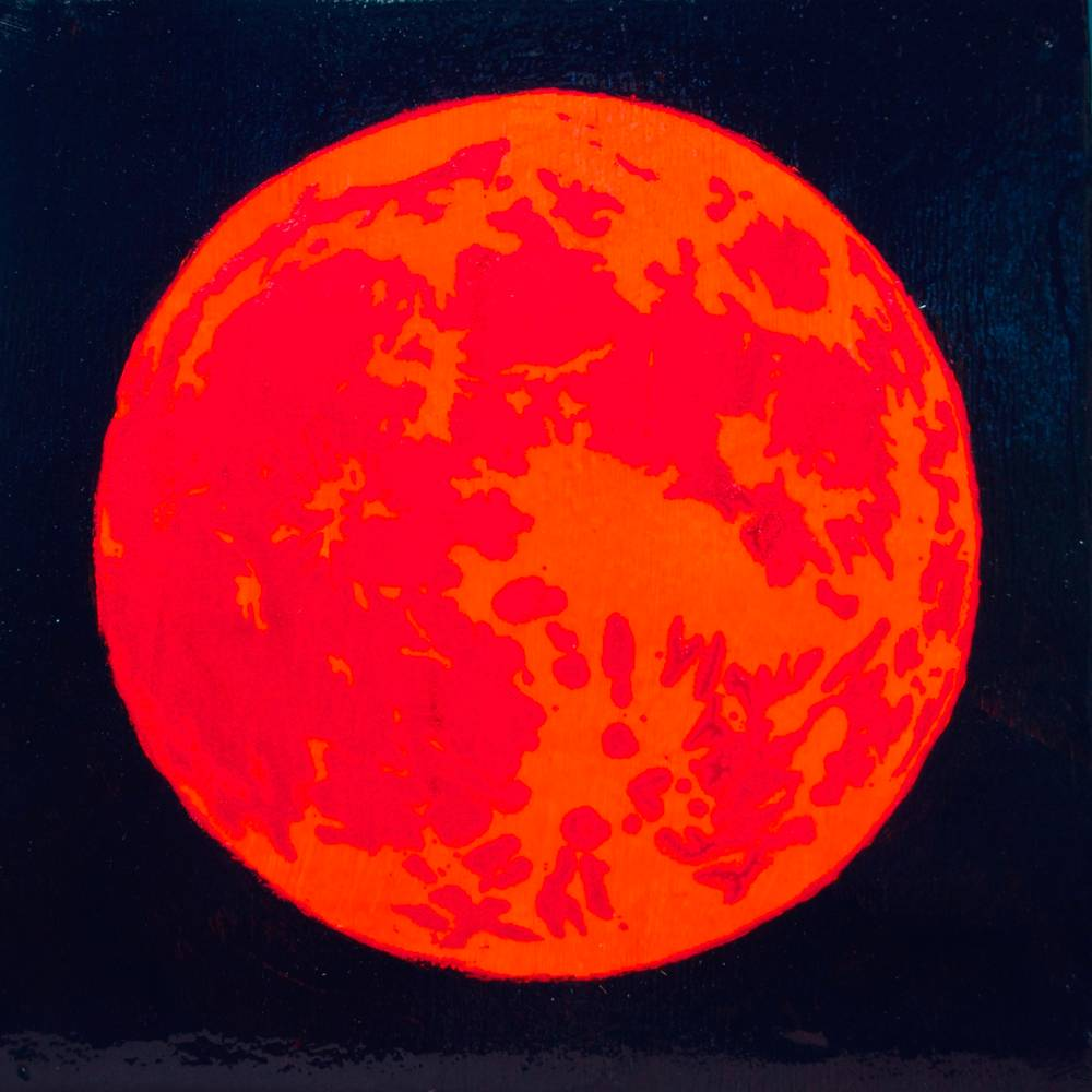 Acrylic painting Blood Moon 2 by Amber Macgregor