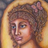 Acrylic painting Alcyone, The Legendary Self by Emily K. Grieves
