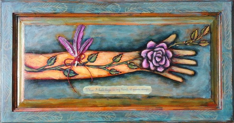 Acrylic painting The Illuminated Arm by Emily K. Grieves