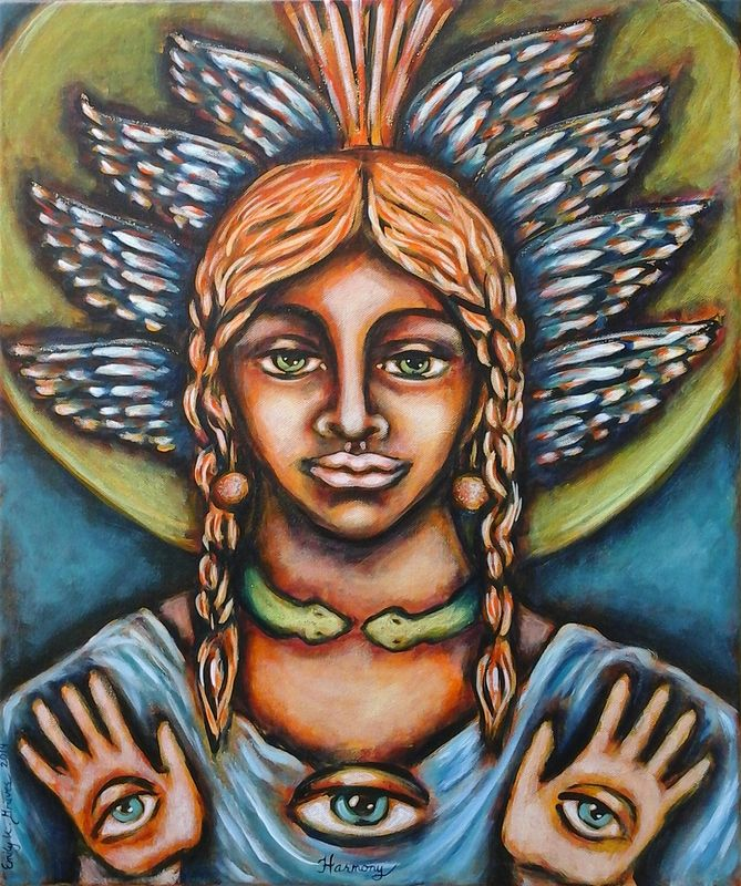 Acrylic painting The Muse of Harmony by Emily K. Grieves