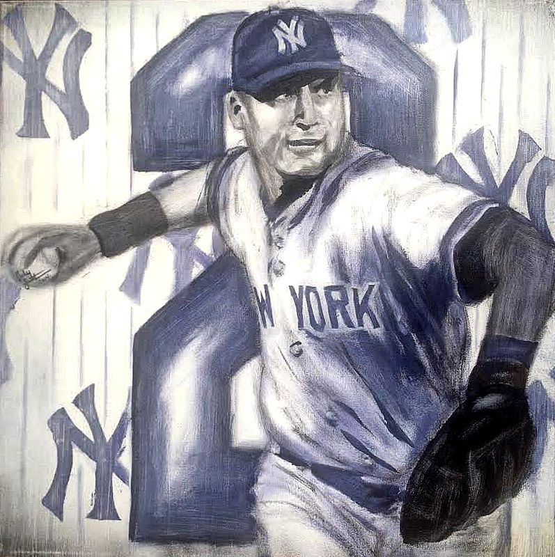 Acrylic painting Captain Jeter by Carly Jaye Smith
