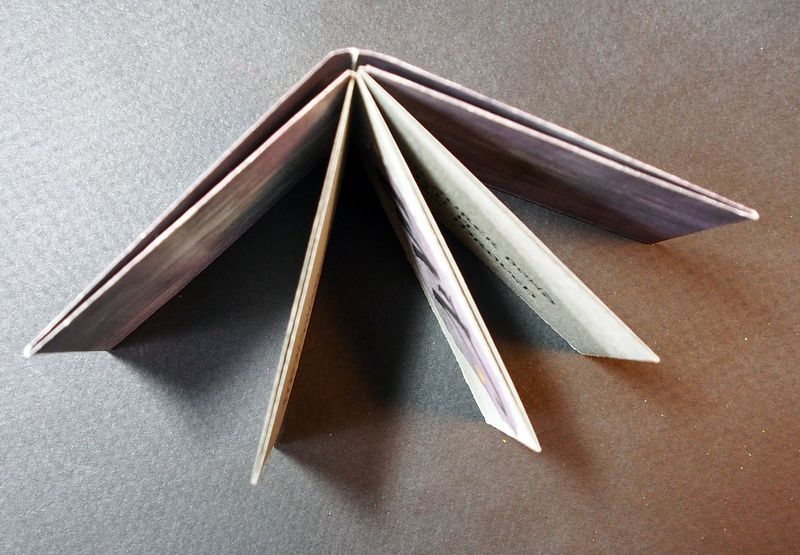 Accordion Book with Paste Paper Cover Top View by Michele Barnes