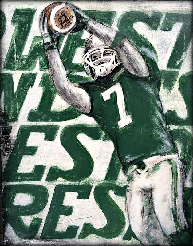 Acrylic painting Weston Dressler by Carly Jaye Smith