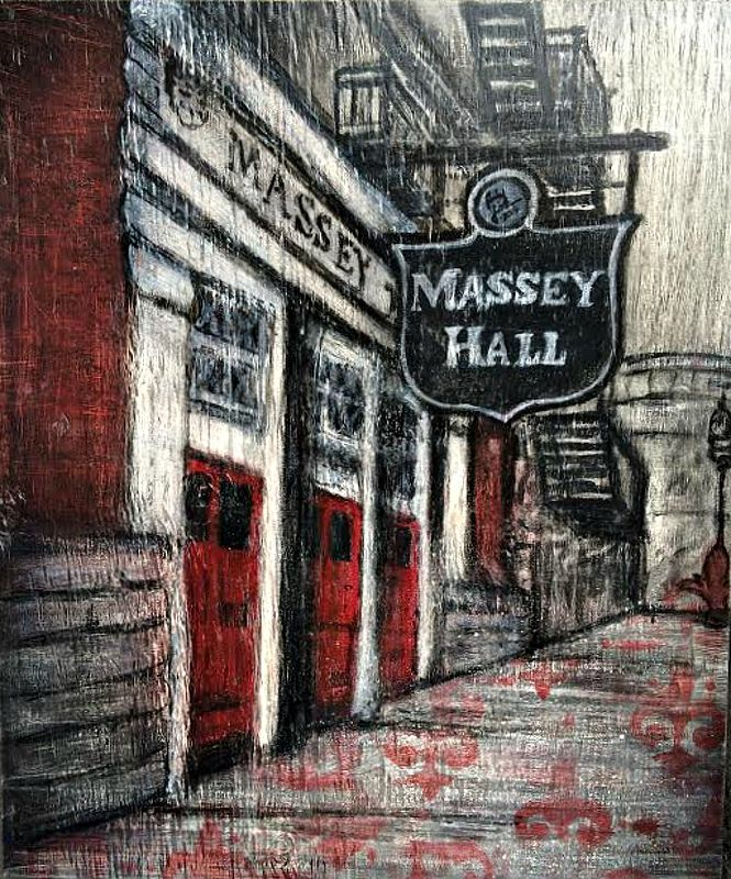 Acrylic painting The Great Massey Hall by Carly Jaye Smith