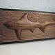 Thresher Shark, Walnut - 34 x 11 by Larry Scaturro
