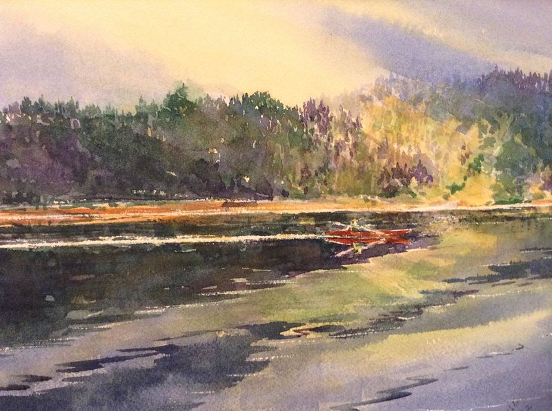 Watercolor Practice by Wanda Hawse