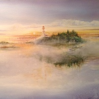 Watercolor Beacon by Wanda Hawse