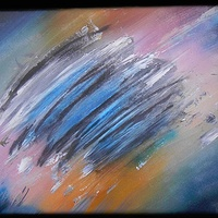 Acrylic painting Tumultuous Sky by Darren Hurst