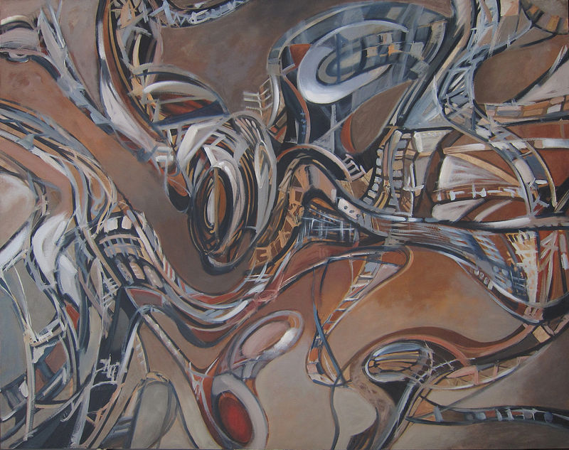 Oil painting Mechanism I by Robert Porazinski