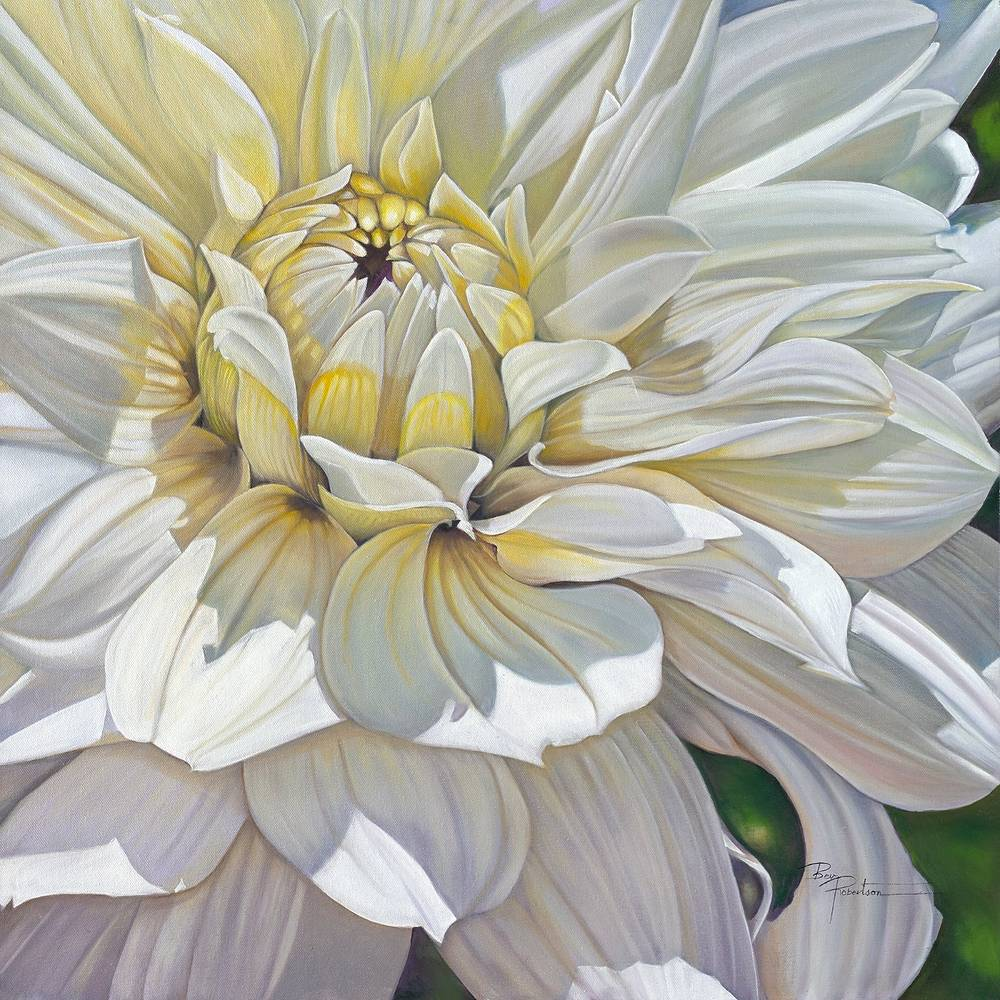 Oil painting The Waltz Dahlia by Bev Robertson