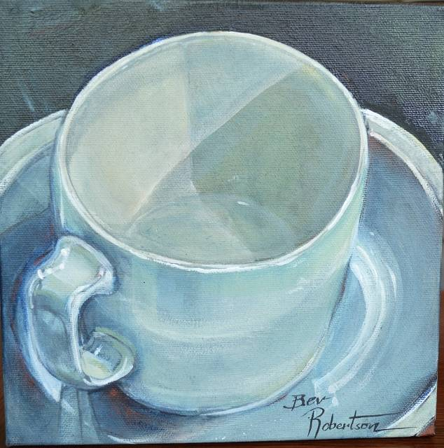 Little Blue Cup by Bev Robertson