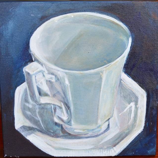 Little White cup by Bev Robertson
