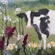 Cow Among the Wildflowers by Valerie Johnson