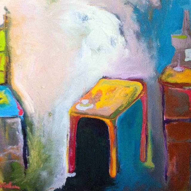 Oil painting Bright Chairs by Amy Graham