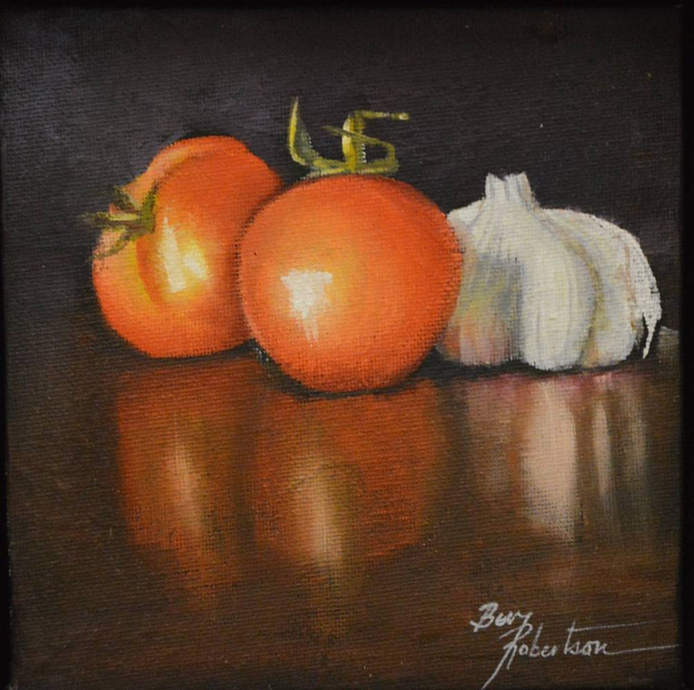Acrylic painting Cooking Italian Style by Bev Robertson