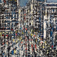 Acrylic painting Urban Rhapsody #17  by David Tycho