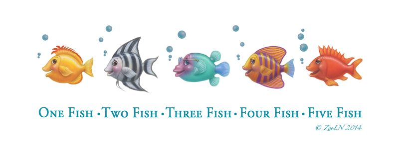 Print One Fish, Two Fish, Three Fish, Four ... by Sue Ellen Brown