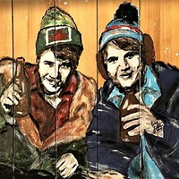 Acrylic painting The McKenzie Bros by Carly Jaye Smith