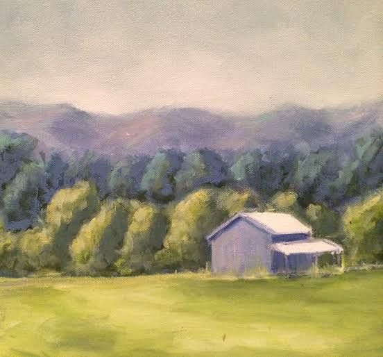 Oil painting Free Union Barn- SOLD by Sarah Trundle
