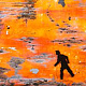 Acrylic painting Quest III - In A Strange Land 36x96   $6400.00 by Edward Bock