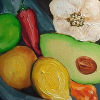 Oil painting Guacamole by Michelle Marcotte
