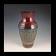 red carved series 12 inch vase 2014 302 by Elaine Clapper