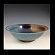 Blue series 11 inch bowl 2014-181  by Elaine Clapper