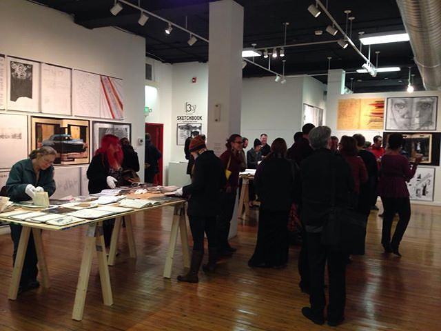 Installation view: Sketchbook, School 33 Art Center, Baltimore Maryland, curator Rene Trevino by Judy Southerland