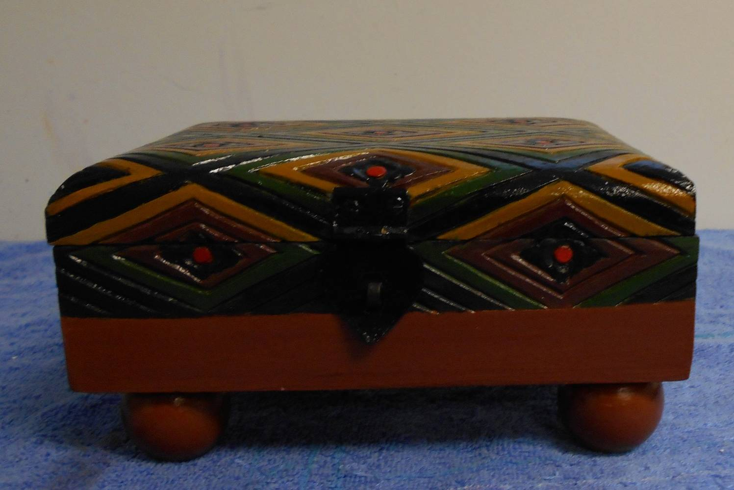 Acrylic painting FRONT VIEW OF BROWN BOX by Georgette  Jones