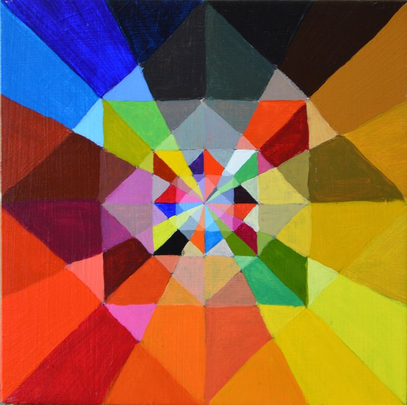 Acrylic painting Sacred Geometry For Benedict XVI by Graham Hall