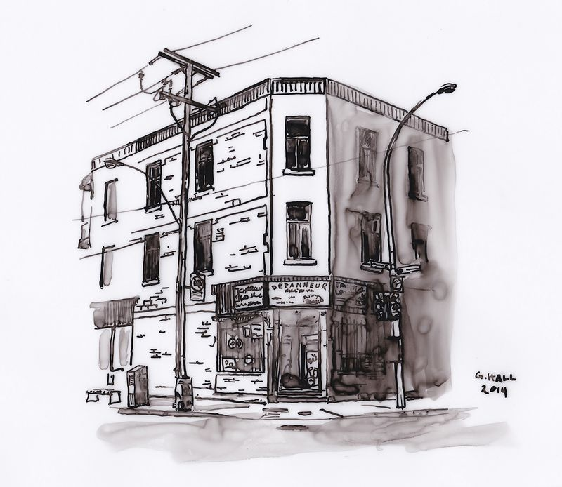 Drawing Depanneur (Prima Vera) by Graham Hall